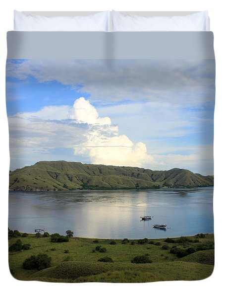 Quiet Bay Duvet Cover by Sergey Lukashin