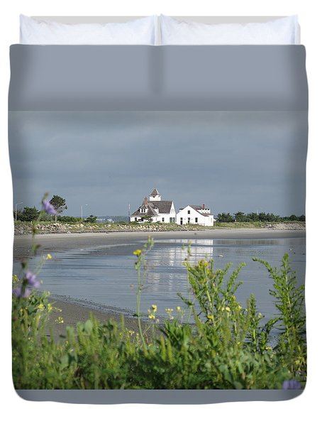 Quiet Beach Nahant Duvet Cover