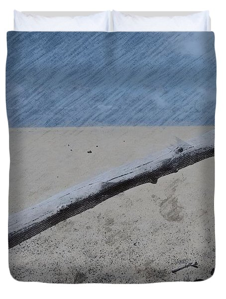 Duvet Cover featuring the photograph Quiet Beach by Photographic Arts And Design Studio