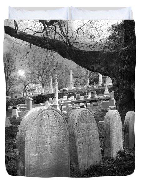 Quiet Cemetery Duvet Cover by Jennifer Ancker