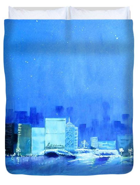 Quiet City Night Duvet Cover