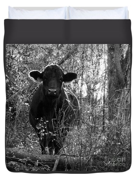 Duvet Cover featuring the photograph Quiet Companion by J L Zarek