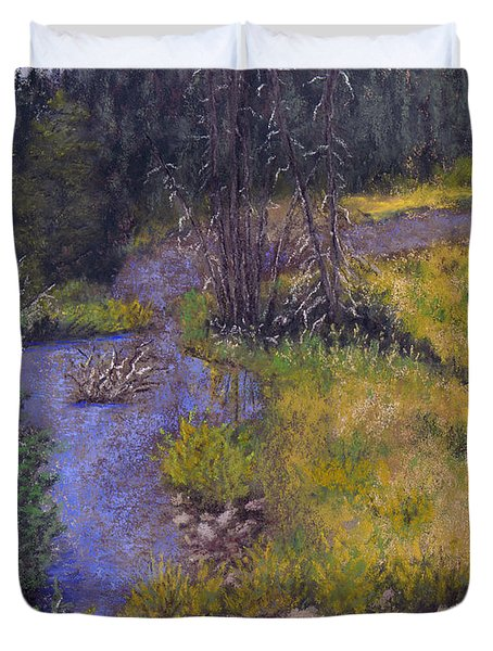 Quiet Creek Duvet Cover by Ginny Neece