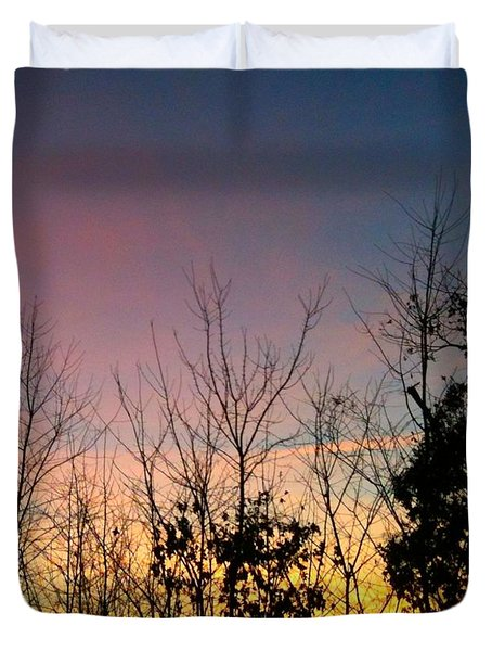 Duvet Cover featuring the photograph Quiet Evening by Linda Bailey