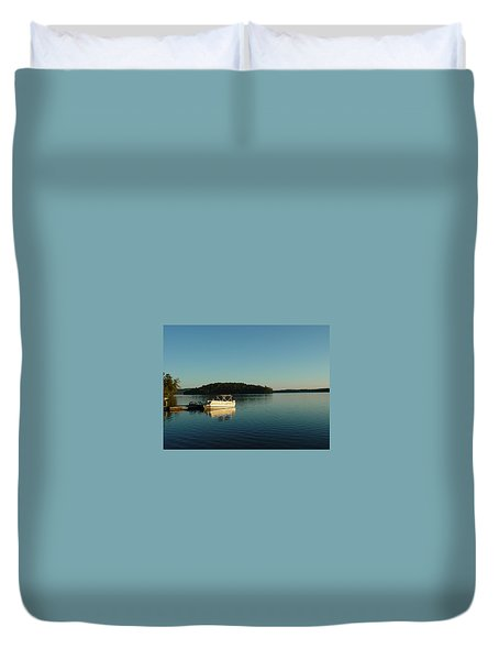 Duvet Cover featuring the photograph Quiet Lake by Dorothy Maier