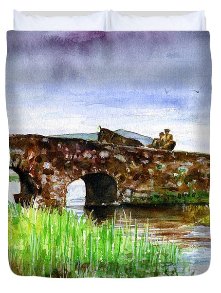 Quiet Man Bridge Ireland Duvet Cover