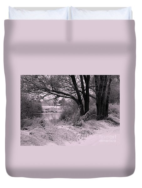 Quiet Morning After Snowfall Duvet Cover by Carol Groenen