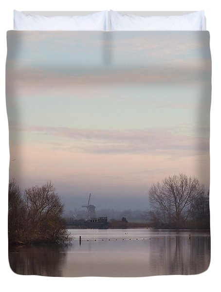 Quiet Morning Duvet Cover by Annie Snel