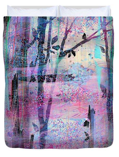 Quiet Place Duvet Cover by Rachel Christine Nowicki