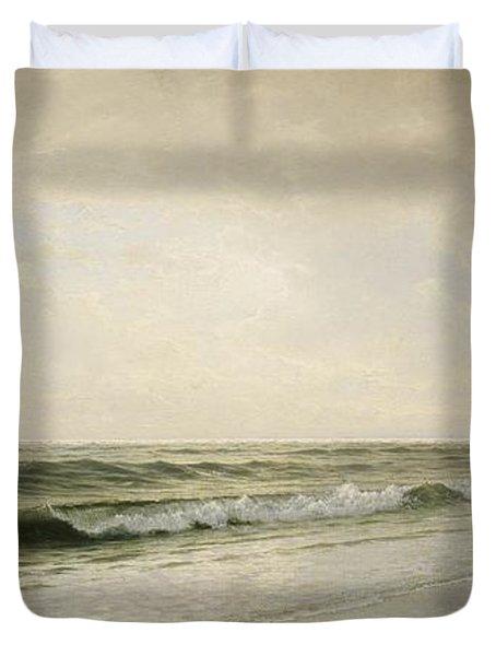 Quiet Seascape Duvet Cover by William Trost Richards