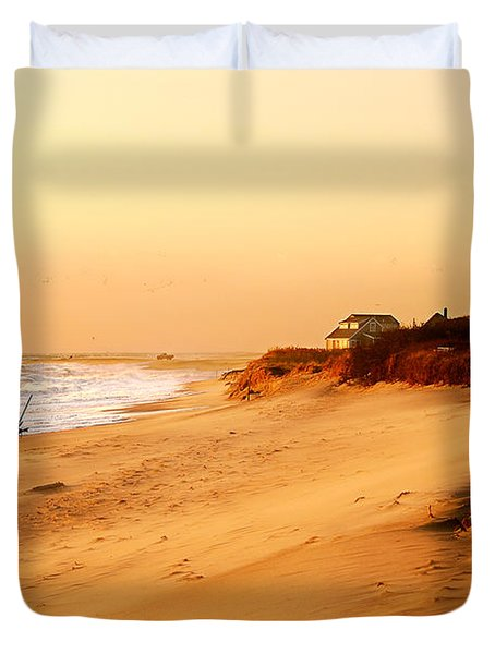 Quiet Summer Sunset Duvet Cover by Sabine Jacobs