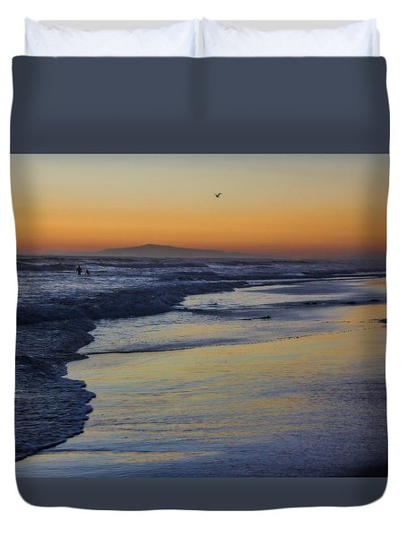 Quiet Duvet Cover by Tammy Espino