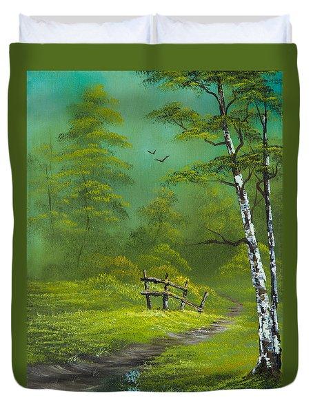 Quiet Trail Duvet Cover by C Steele