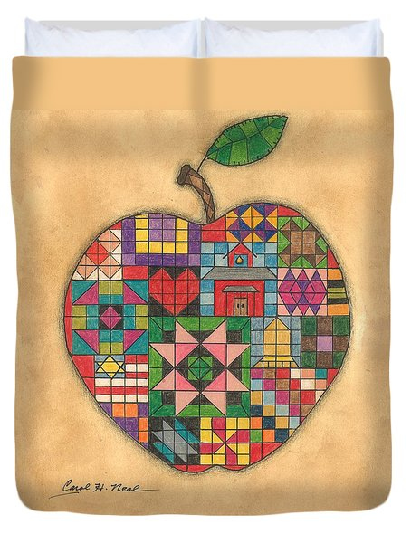 Quilted Apple Duvet Cover