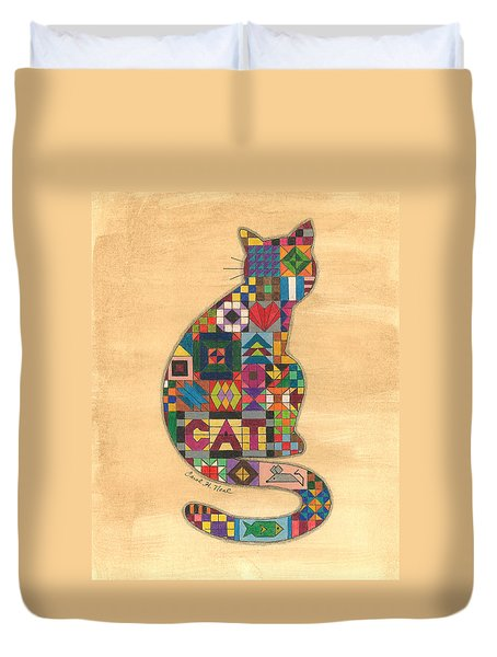 Quilted Cat Duvet Cover