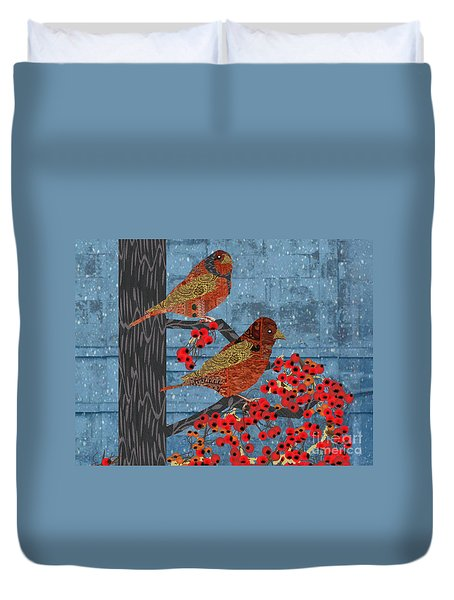 Sagebrush Sparrow Short Duvet Cover