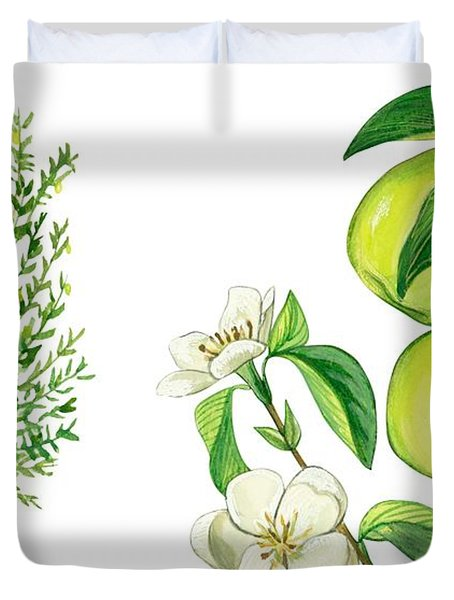 Quince Tree Duvet Cover by Anonymous