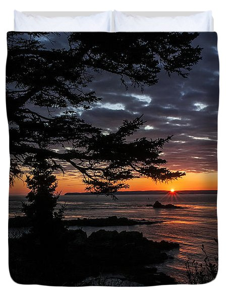 Quoddy Sunrise Duvet Cover by Marty Saccone