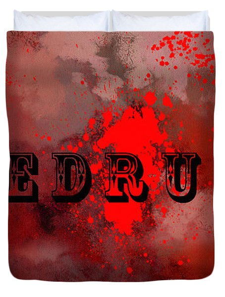 R E D R U M - Featured In Visions Of The Night Group Duvet Cover