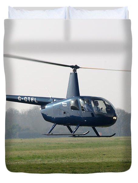 R44 Raven Helicopter Duvet Cover