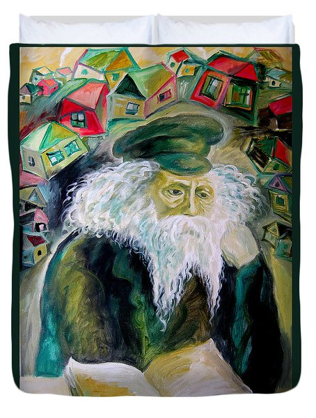 Rabbi Yosef Rosen The Rogatchover Gaon Duvet Cover by  Leon Zernitsky