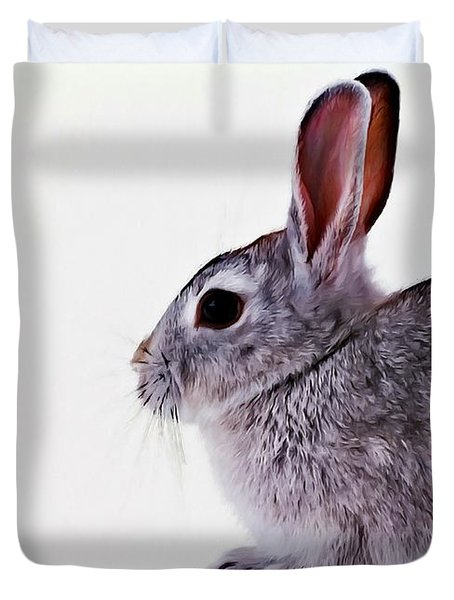Rabbit 1 Duvet Cover by Lanjee Chee