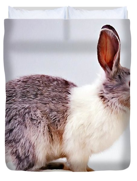Rabbit  3 Duvet Cover by Lanjee Chee