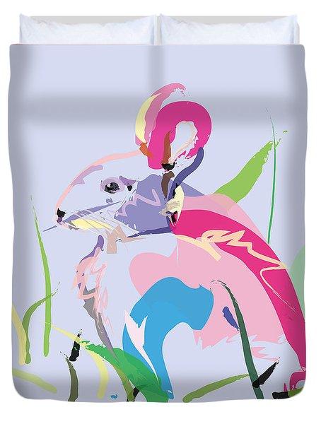 Rabbit - Bunny In Color Duvet Cover