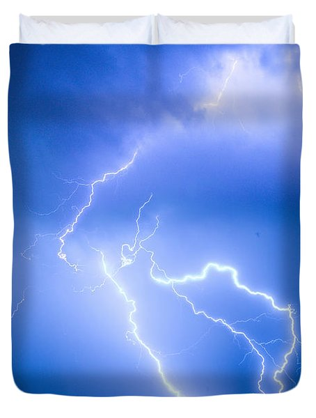 Rabbit Mountain Area Lightning Strikes Boulder County Duvet Cover