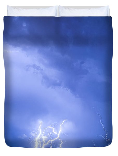 Rabbit Mountain Lightning Strikes Boulder County Co Duvet Cover