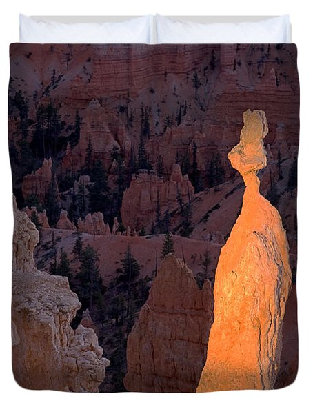 Rabbit Sunset Point Bryce Canyon National Park Duvet Cover