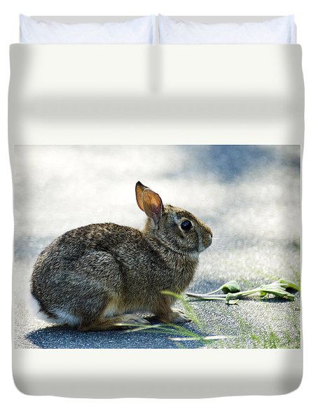 Duvet Cover featuring the photograph Rabbit by Yulia Kazansky