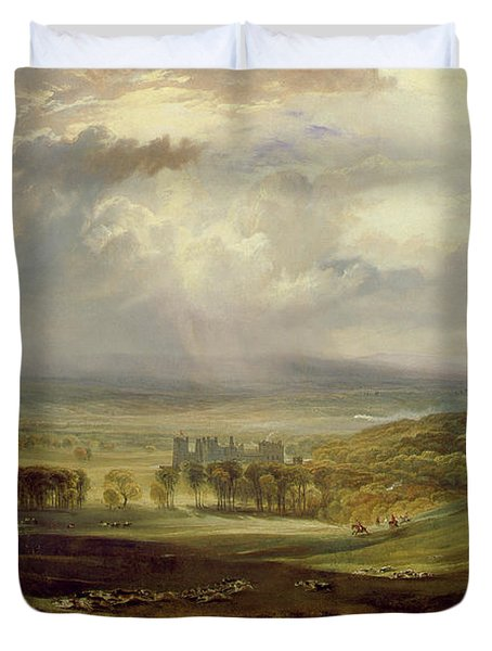 Raby Castle Duvet Cover by Joseph Mallord William Turner