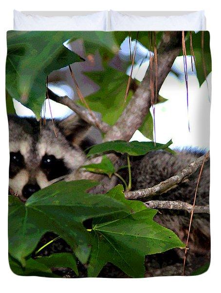 Raccoon Eyes Duvet Cover