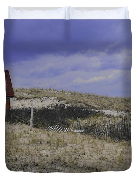 Race Point Light Shed Duvet Cover by Catherine Reusch Daley