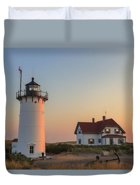 Race Point Lighthouse Duvet Cover by Bill Wakeley