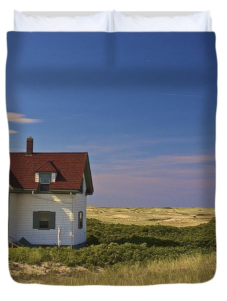 Race Point Lighthouse In Summer Duvet Cover