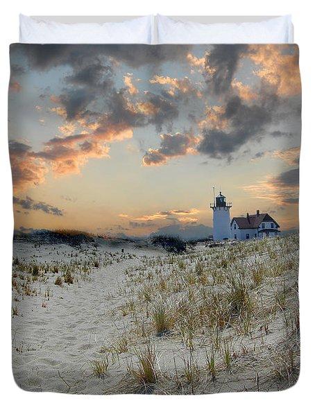 Race Point Lighthouse Duvet Cover