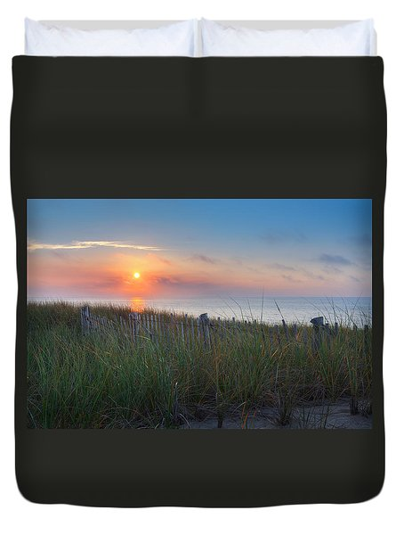 Race Point Sunset Duvet Cover