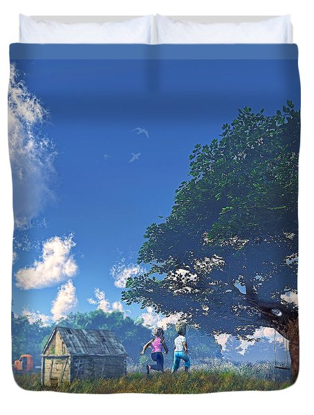 Race To The Swing Duvet Cover
