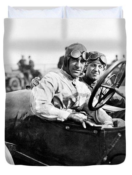 Racecar Drivers, 1916 Duvet Cover