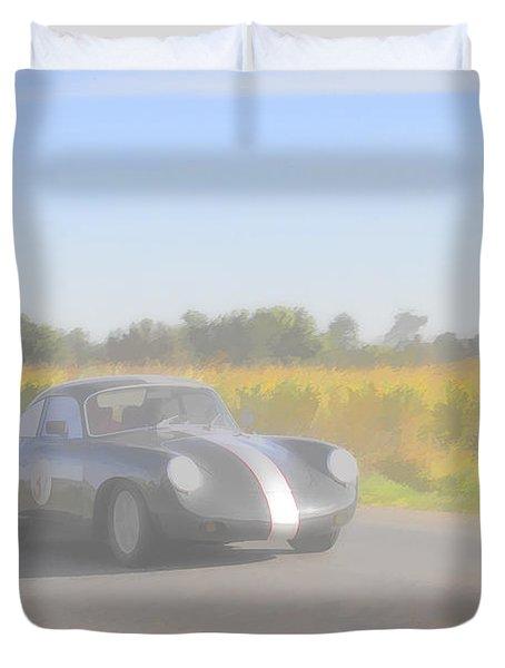 Racer Porsch 356 Duvet Cover by Jack R Perry