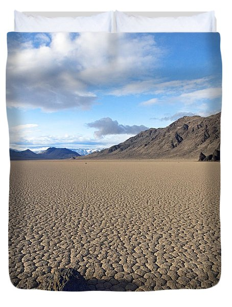 Racetrack Playa Death Valley Duvet Cover