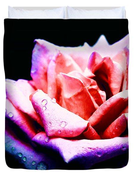 Duvet Cover featuring the photograph Rachel's Rose by Rachel Mirror