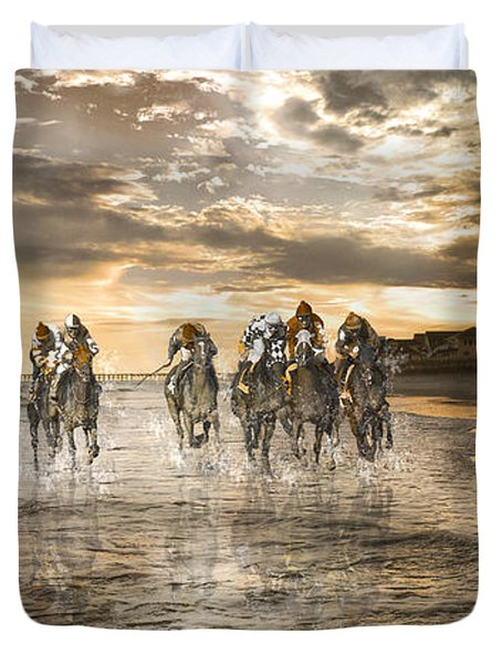 Racing Down The Stretch Duvet Cover