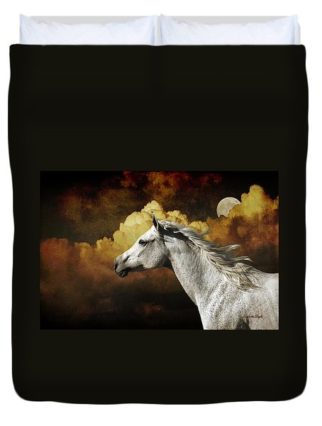 Racing The Moon Duvet Cover