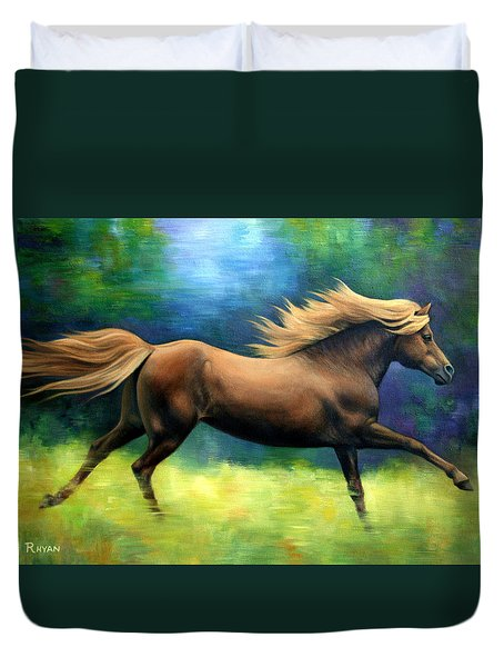 Racing  The Wind Duvet Cover by Vivien Rhyan
