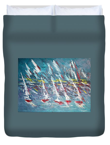 Racing To The Limits - Sold Duvet Cover