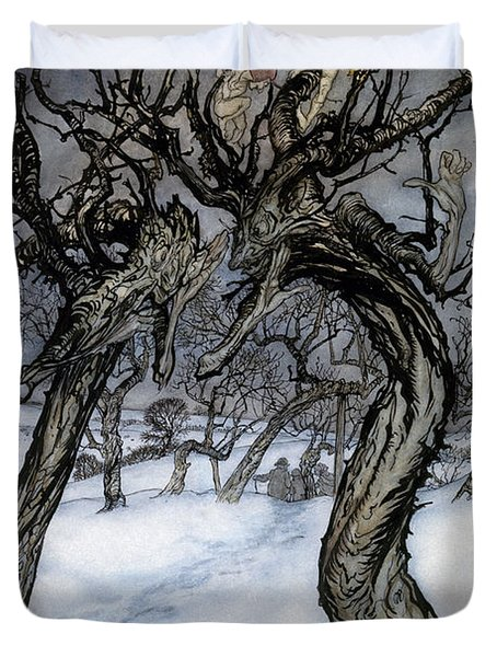 Rackham: Whisper Trees Duvet Cover