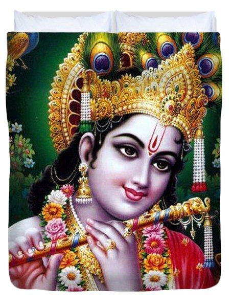Radha Krishna Idol Hinduism Religion Religious Spiritual Yoga Meditation Deco Navinjoshi  Rights Man Duvet Cover